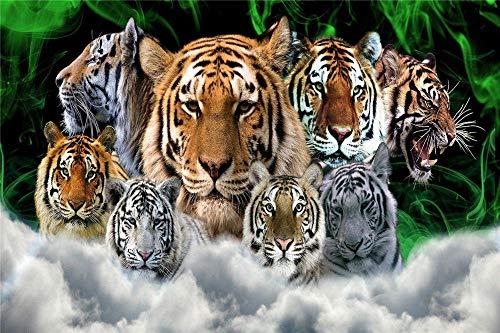 FAWFAW Puzles Adulto 500 Piezas, Colección De Especies De Tigre, 1500/1000/500/300 Piezas, Juegos De Puzzle Decoración para El Hogar