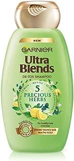 Garnier Ultra Blends Shampoo, 5 Precious Herbs, 340ml
