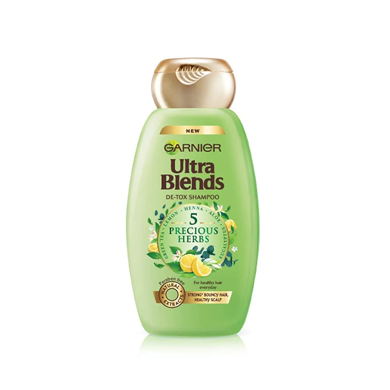 支出厄介な相互接続Garnier Ultra Blends Shampoo, 5 Precious Herbs, 340ml