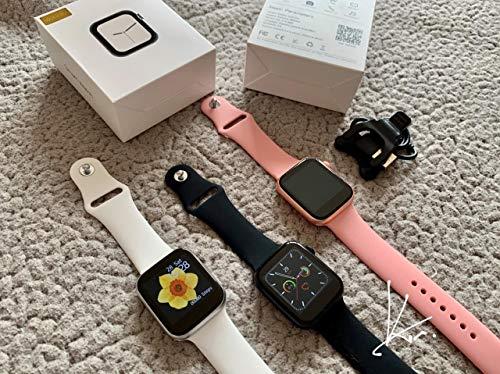 Relógio Inteligente W34s Smartwatch com Rede Social Ligações Telefônica (Branco)