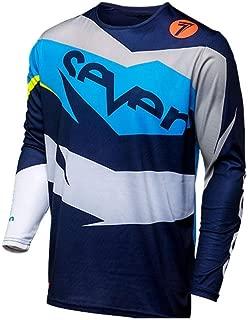 Seven Motocross Jersey Downhill Long Sleeve Jersey Mountain Bike Shirt Clothing Makfacp (Color : Ivory, Size : The)
