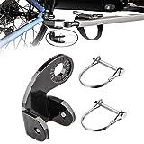 Wuchuan Instep Bike Trailer Parts, 135-Degree Coupler Bike Trailer Coupler Bicycle Trailer Hitch, Adapter Metal Instep Bike Trailer Attachment Connector Accessory for Instep Bike Pet Stroller (Black)