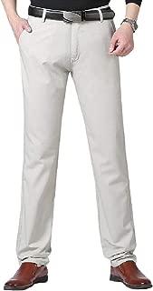 MogogoMen Business Straight-Fit Original Fit High Waist Long Work Pants