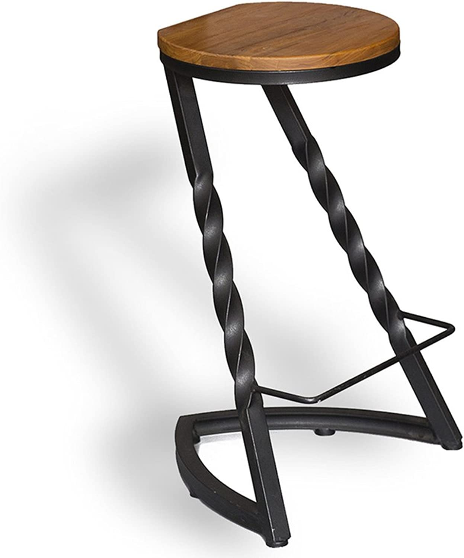 LHA Barstools Nordic Solid Wood Home Bar Stool High Stool Bar Furniture