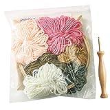 NONE Kit de Bordado Colorido Kit de Punto de Cruz Diy Que Incluye Tela de Bordado con Elementos de Decoración Del Hogar Hilos de Aro E Color Y Kit de Herramientas de Inicio