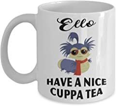 Ello have a nice cuppa tea labyrinth worm-labyrinth ello-labyrinth William the worm and Mrs worm Coffee Mug, Funny, Cup, Tea, Gift For Christmas, Fath