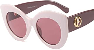 LUKEEXIN Color Matching Classic Oversized Cat Eyes Sunglasses for Women UV Protection for Driving Vacation (Color : Pink)