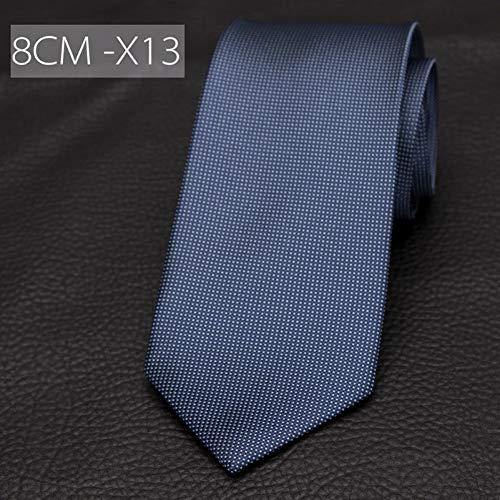 ABDYTE Krawatten Gestreifte Krawatten Für Männer 8Cm Breite Klassisches Herrenkleid Business Krawatten Polyester Krawattenhemd