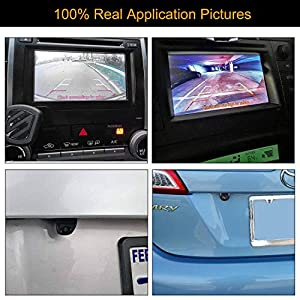 NATIKA Backup/Front View Camera,IP69K Waterproof Great Night Vision HD and Super Wide Angle Metal OEM Style Reverse Rear View Backup Camera for Cars Pickup Trucks SUVs RVs Vans (Black)