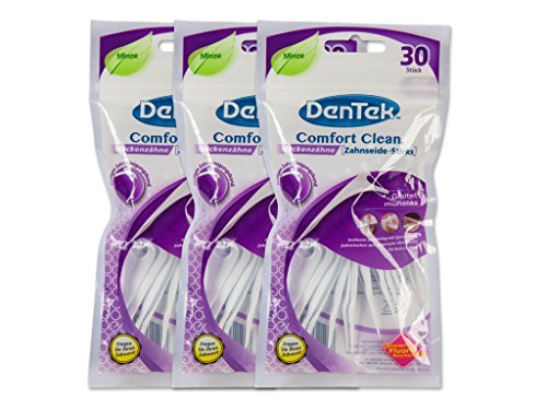 3x DenTek Comfort Clean Zahnseide Sticks