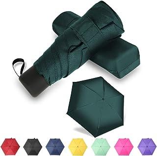 GAOYAING Travel Mini Umbrella Sun&Rain Lightweight Small and Compact Suit for Pocket Dark Green