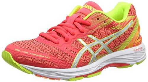 ASICS Damen Gel-DS Trainer 22 NC Laufschuhe, Pink (Diva Pink/Silver/Safety Yellow), 37 EU