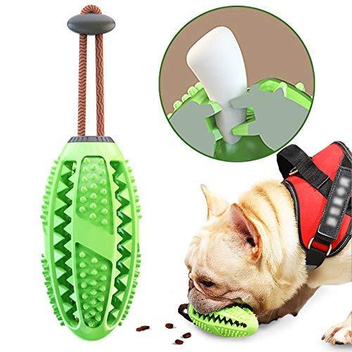 onebarleycorn – Hund Zahnbürsten Stick, Hundespielzeug Ball Hundeball mit Zahnpflege Naturkautschuck Spielzeug Zahnreinigungsspielzeug für Hunde (Grün)