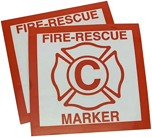 2 Pack Child Fire Rescue Marker Window Decals Alert Fireman of Children product image