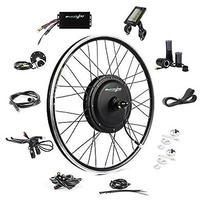 "EBIKELING 48V 1200W 26"" Ebike Conversion Kit - Direct Drive Waterproof Electric Bike Kit - Ebike Conversion Kit - Electric Bike Conversion Kit (Front/LCD/Twist)"