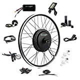 EBIKELING 48V 1200W 26' Ebike Conversion Kit - Direct Drive Waterproof Electric Bike Kit - Ebike Conversion Kit - Electric Bike Conversion Kit (Front/LCD/Twist)