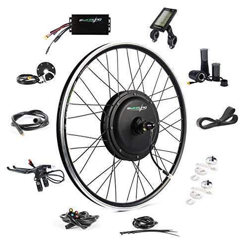 EBIKELING 48V 1200W 26' Direct Drive Waterproof Electric Bike Kit - Ebike Conversion Kit - Electric Bike Conversion Kit (Front/LCD/Twist)