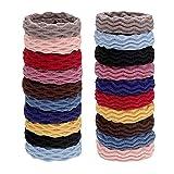 20 Piezas Pelo Hair Ties, Multicolor Elástico Gomas de Pelo, Accesorios de Cuerda de Pelo Multicolor, Cuerda de Pelo de Cola de Caballo, Utilizado para Arreglar el Cabello, Multicolor