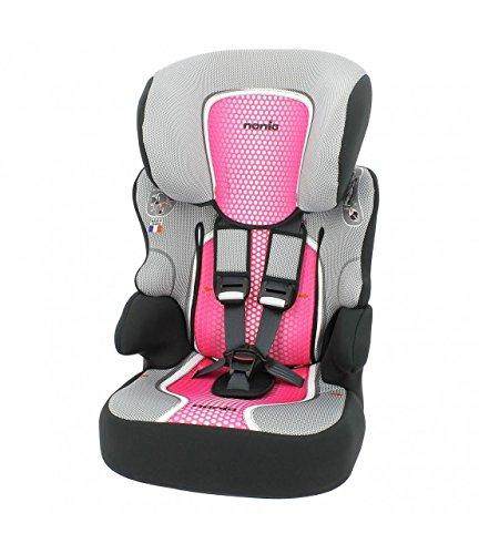 mycarsit asiento de coche y asiento elevador, Grupo 1/2/3(de 9a 36kg), color rosa