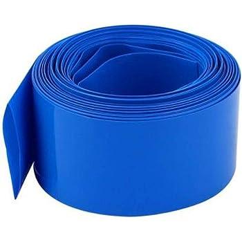 sourcing map Tubo termoencogible de PVC azul para 18.650 bater/ías de 60mm Anchura plana de 10m de longitud