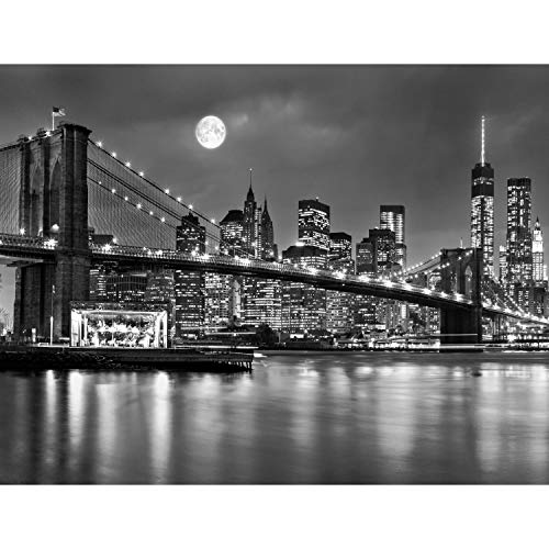 Fototapete New York 396 x 280 cm Vlies Wand Tapete Wohnzimmer Schlafzimmer Büro Flur Dekoration Wandbilder XXL Moderne Wanddeko 100% MADE IN GERMANY -Stadt City NY Runa Tapeten 9101012b