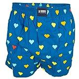Happy Shorts Herren Boxershorts 205 blau/Herzen L