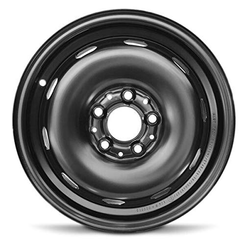 Road Ready Car Wheel For 2015-2019 Mini Cooper Mini Clubman 15 Inch 5 Lug Black Steel Rim Fits R15 Tire - Exact OEM Replacement - Full-Size Spare