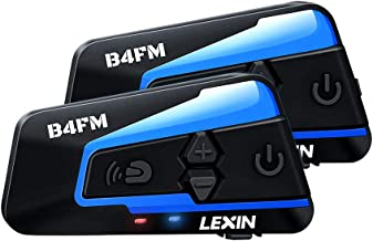 LEXIN 2x B4FM Intercomunicador Casco Moto, Moto Bluetooth Radio Comunicador para Casco, Manos Libres para Moto, Intercom Casco Moto para 4 Motoristas, Motocicleta Interphone con Cancelación de ruido