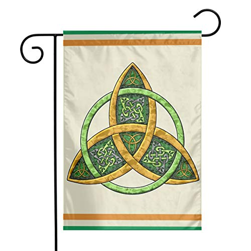 TTIWEP Celtic Trinity Knot Garden Flag Indoor & Outdoor Decorative Flags for Parade Sports Game Family Party Wall Banner,12x18inch