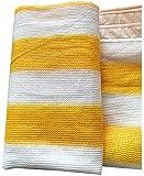 WJJ Toldos Exterior Toldo Camuflaje UV Bloqueo Resistente A Shade Paño Protección Privacidad Sol Sunshade Toldo con Ojales (Color: Amarillo) (Color : Yellow, Size : 2 * 3m)