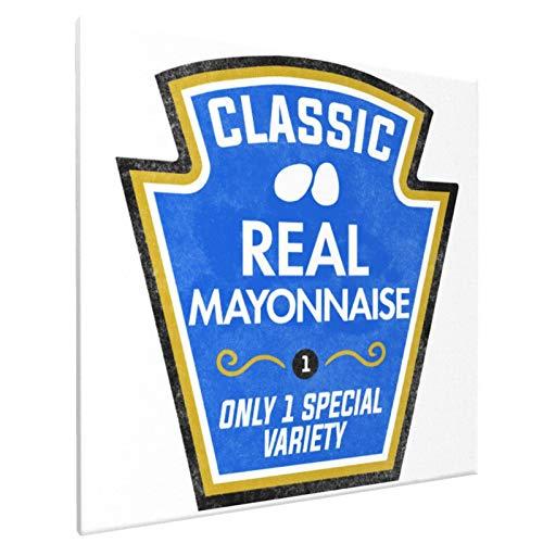 Divertido tarro de mayonesa para disfraz de Halloween, arte de pared, lienzo impreso, cuadros indios, bohemios, modernos, para sala de estar, dormitorio, bao, 40 x 40 cm, pintura decorativa sin marco