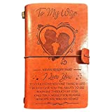 to My Wife Leather Journal, 120 Page Travel Journal Diary Sketch Book Gift