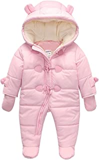 c7cf2d55e3e97 TeenMiro Baby Winter Clothes Newborn Fleece Bunting Infant Snowsuit Girl Boy  Snow Wear Outwear Coats 0