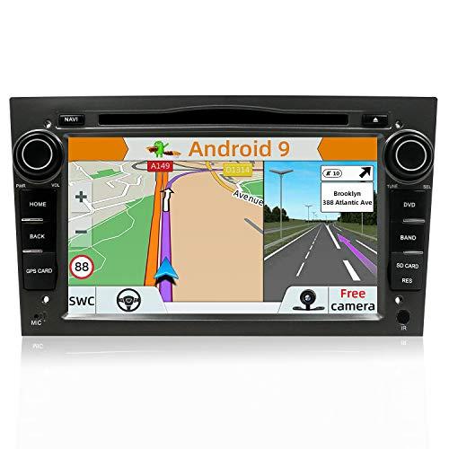 YUNTX Android 9.0 Autoradio Compatible con Opel Vauxhall/Antara/Astra/Corsa/Zafira -2G32G - GPS 2 Din - Cámara Trasera GRATIS - 7 pulgada - Soporte DAB+/ Mandos de Volante/4G/WiFi/Bluetooth/MirrorLink