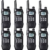 Retevis RT616 Walkie Talkie Recargable, PMR 446 sin Licencia 16 Canales, VOX 10 Tonos de Llamada, Linterna LED, Walkie Talkie Profesional (Negro, 4 Par)