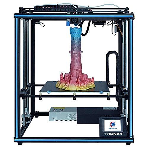 TRONXY X5SA Impresora 3D de Resina, Impresora 3D Profesional Base Silenciosa, Tamaño de 330 x 330 x 400 mm, Impresora 3D de Alta Precisión con Pantalla Táctil, Detector de Filamento y Reanudación, DIY