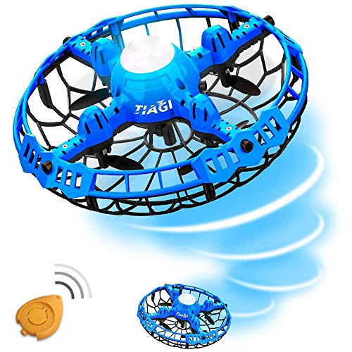 Tiagi Hand Operated Drones Toys for Kids or Adults - Mini Drones Hand Controlled Flying Ball Drone for Boys and Girls Motion Sensor Helicopter (Blue)