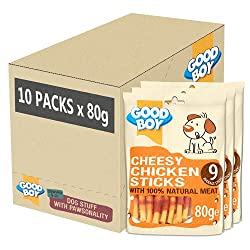 MADE WITH 100% NATURAL CHICKEN: I'm made with 100% natural chicken breast meat so will be sure to get your dogs' tail wagging RIDICULOUSLY TASTY: There's no denying that dogs' love cheese. I'm made with real cheese and am completely dog safe, the per...