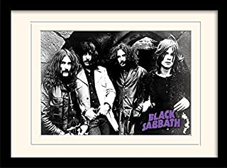 iPosters Black Sabbath Photo Framed & Mounted Print - Overall Size: 36 x 46 cm (14 x 18 inches) Mount Size: 30 x 40 cm