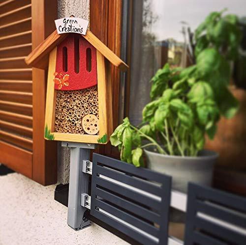 Insektenhotel für masu Blumenkastenhalterung inklusive Zubehör-Adapter