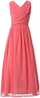 Happy Rose Juniors Long Bridesmaid Dress Party Dresses Flower Girl's Dress