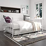 DHP Manila Metal Queen Size Daybed and Full Size Trundle (White)