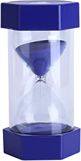 Hourglass Sand Timer 3/10/20/30/60 Minutes Timer Set Sandglass Timer Romantic Home Office Decor (60 mins, Blue)