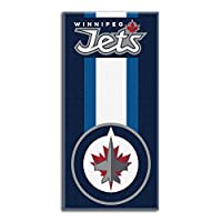"Officially Licensed NHL Winnipeg Jets ""Zone Read"" Beach Towel, 30"" x 60, Multi Color"