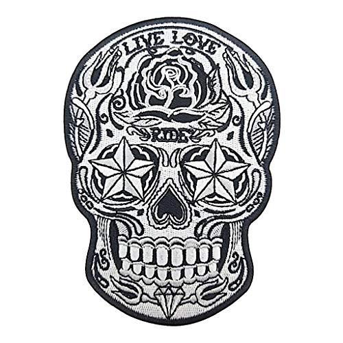 Kustom Factory Patch Totenkopf Mexikanischer Stil Calavera bestickt