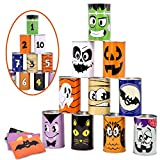 JOYIN Halloween Carnival Can Bean Bag Toss Games for Kids & Adults Trick or Treat Decoration, Home Decor Party Favors Supplies, Homeschooling Backyard Game