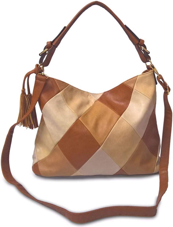 JFBZS -handväska modeable modeable modeable Retro Lady med en axelväska och en inkallad väska  njuter av din shopping