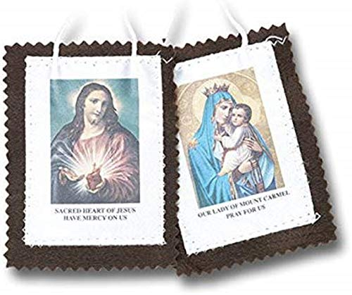 """Hail Mary Gifts 10pc, 2"""" Brown Scapular"""
