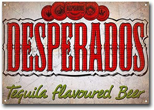 Froy Desperados Tequila gearomatiseerde bier muur tin teken retro ijzer poster schilderen plaque metalen plaat vintage gepersonaliseerde kunst creativiteit decoratie ambachten voor café bar garage huis
