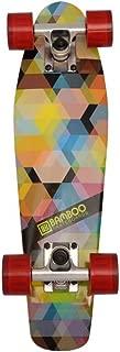Bamboo Skateboards Kaleidoscope Mini Cruiser- Complete Mini Skateboard Banana Board